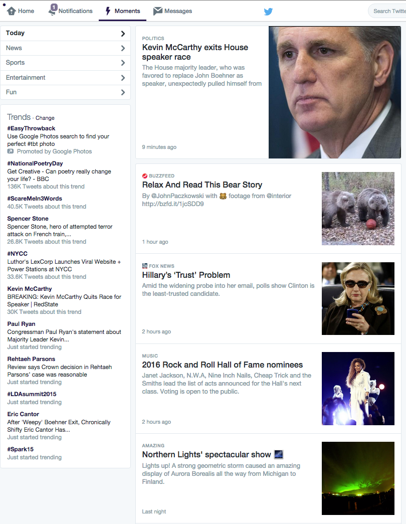 Twitter Moments - Desktop screenshot