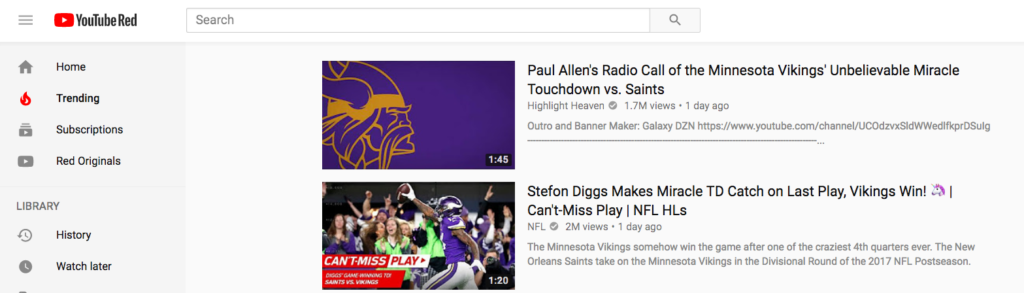 YouTube Trending - Vikings Videos